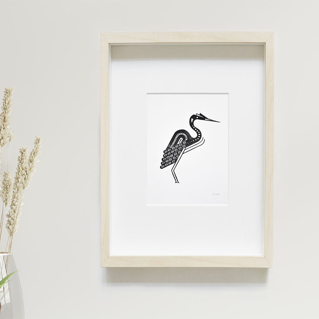 heron-noir-animal-dessin-geometrique
